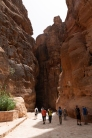 At the beginning of the Siq